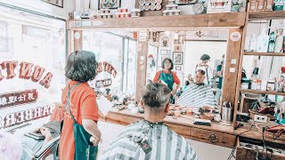 Download SUPER RELAXING SHAVE, MASSAGE AND HAIR WASH / LADY BARBER / ASMR (background noise) Video