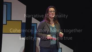 Download Whoever controls the narrative has the power | Gretchen Busl | TEDxTWU Video