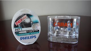 Download Philips X-tremeVision +130% (3700k) vs OSRAM Night Breaker Unlimited (3600k) Video