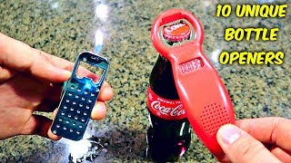 Download 10 Weird Bottle Openers put to the Test - Part 2 Video