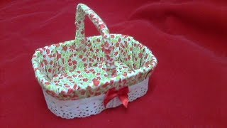 Download Cestinha feita com pote de margarina útil na Páscoa, Dia das Mães, Natal... Video