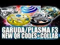 Download QR CODES MAXIMUM GARUDA PLASMA F3 + COLLAB C/ ZANKYE! - BEYBLADE BURST APP QR CODES Video
