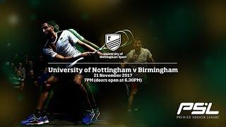 Download Premier Squash League LIVE: University of Nottingham v University of Birmingham Lions PSL Video