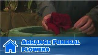 Download Flower Arrangements : How to Arrange Funeral Flowers Video