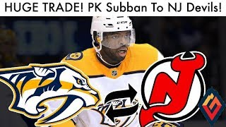 Download Devils Trade For PK Subban In HUGE TRADE! (NHL Trades Preds/NJD News, Rumors, Jack Hughes Talk 2019) Video