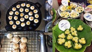 Download THAI STREET FOOD at Warorot Market ● Khao Tom Mad, Khao Kan Chin, Khanom Krok & Assorted Desserts Video