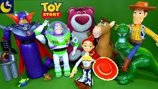 Download LOTS of NEW Toy Story Toys Villains Zurg Lotso Talking Woody Buzz Lightyear Unboxing Toy Video Video