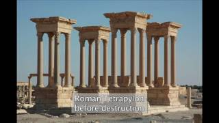 Download Destruction of the Tetrapylon and damage to the Theatre in Palmyra Video