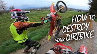 Download How To Destroy Your Dirt Bike Like A Pro! Enduro Tutorial 2019 Video