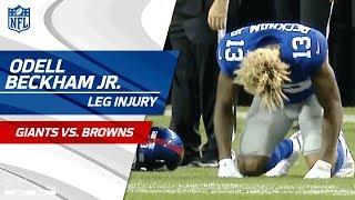 Download Odell Beckham Jr. Suffers Leg Injury   Giants vs. Browns (Preseason)   NFL Video