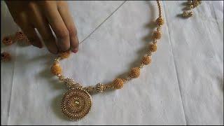 Download How the make silk thread necklace ball chain balls | Srivari Creations Video
