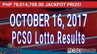 Download PCSO Lotto Results Today October 16, 2017 (6/55, 6/45, 4D, Swertres & EZ2) Video