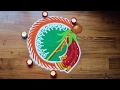 Download Gudi padwa rangoli designs with colours - Ugadi Rangoli designs Video