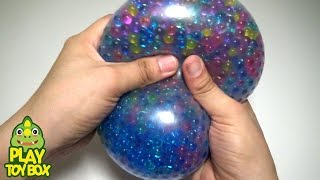 Download StressBall Orbeez WaterSlide Balloon Surprise Eggs Learn Colors Bath Doll Duck Play Video