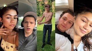 Download Tom Holland and Zendaya Instagram Stories / July-August 2018 Video