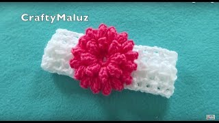Download ♥CROCHET TUTORIAL | DIADEMA TEJIDA PASO A PASO | haz una hermosa diadema a crochet paso a paso Video