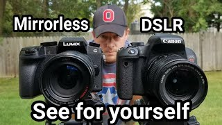 Download Panasonic Lumix G7 vs Canon Rebel EOS T7i hands on comparison Video