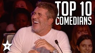 Download TOP 10 Funniest Comedians That Made SIMON COWELL Laugh on AGT & BGT | Got Talent Global Video