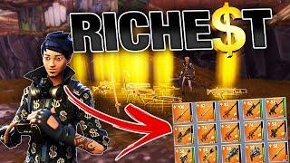 Download Richest Kid gives me RAREST Guns & Swords! | Fortnite Save the World PVE Video