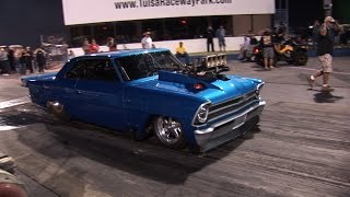Download Blown Nova Motor FAIL at 175mph vs 3000+hp TT Cadillac Video