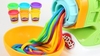 Download DIY Play Doh Rainbow Spaghetti Maker Modelling Clay Play Doh Mighty Toys Video