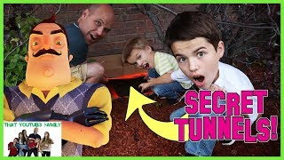 Download We Found Hello Neighbors Secret Abandoned Tunnels Under Our House! / That YouTub3 Family Video