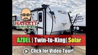 Download UPDATED 2020 Rockwood 15TB Geo Pro Azdel Solar Twin to King Bed Ultralite Mini Travel Trailer Video