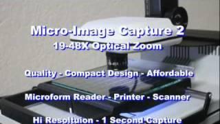 Download Micro-Image Capture 2 Digital Microfilm & Microfiche Scanner 19-48X Video
