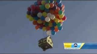 Download Disney's ″Up″ house created in real life and flown for National Geographic show Video