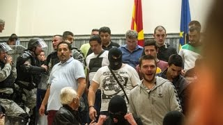 Download Violence breaks out in Macedonian Parliament Video