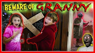Download GRANNY GAME IN REAL LIFE! | We Are The Davises Video