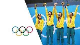 Download Australia Set New Olympic 4 x 100m Freestyle Record - London 2012 Olympics Video