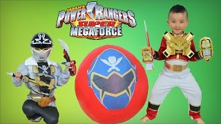 Download Power Rangers Super Megaforce Giant Surprise Toys Egg Opening With Red Ranger-Silver Ranger Ckn Toys Video
