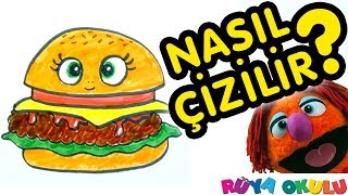 Download Hamburger Nasıl Çizilir? - Burger - 🍔 - Çocuklar İçin Resim Çizme - RÜYA OKULU Video