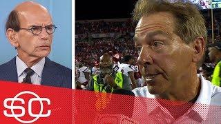 Download Nick Saban postgame QB interview and Paul Finebaum, Mack Brown reactions | SportsCenter | ESPN Video