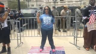 Download Erica Walker Steps on flag infront of Soldiers #ericsheppardchallenge Video