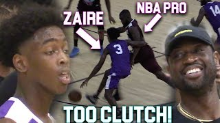 Download Zaire Wade GOES CLUTCH VS NBA PLAYERS InFront of D-Wade In MIAMI PRO AM! ″Young Flash″ Video