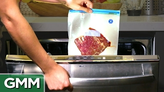 Download Cooking a Steak in a Dishwasher Video