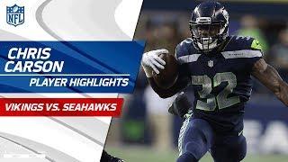 Download Rookie Chris Carson's Best Plays vs. Minnesota | Vikings vs. Seahawks | Preseason Wk 2 Highlights Video