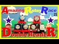 Download Amazing Relay Race 21! Double Header! Trackmaster Thomas and Friends Racing Competition! Video