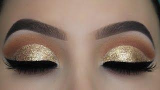 Download Crystal Gold Glitter Eye Makeup Tutorial Video