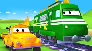 Download Tom The Tow Truck's Paint Shop: Troy is a Trainosaur | Truck cartoons for kids Video