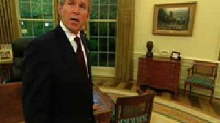 Download George W. Bush gives tour of the Oval Office (White House) Video