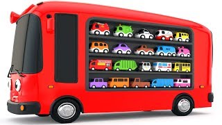 Download Colors for Children to Learn with Bus Transporter Toy Street Vehicles - Educational Videos Video