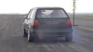 Download 736HP Volkswagen Golf 2 VR6 Turbo 4Motion Brutal Launches! Video