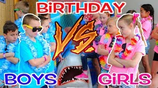 Download BOYS vs GIRLS! Twins Birthday Party Challenge! Kids Fun TV Video