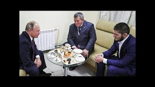 Download Vladimir Putin meets Khabib and his father to discuss Conor McGregor fight ( translated) Video