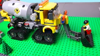 Download LEGO Cars experemental Concrete mixer truck, police car and monster truck Video for Kids Video