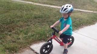 Download 2 yr old progression on Strider balance bike Video