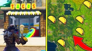 Download ″Visit Different Taco Shops in a Single Match″ ALL Taco Shop Locations Fortnite Week 9 Challenges! Video